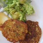 sweetcorn chard fritters