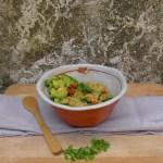 turmeric flavoured millet, amaranth & seasonal vegetables