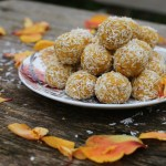 golden zesty mango coconut balls (vegan)