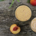 peach chia breakfast shake