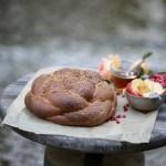 round challah for Rosh Hashana (vegan)
