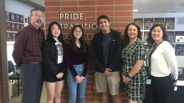Valencia High School students pictured with administrators.