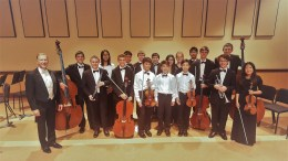 PYLUSD students in the Southern California Youth Philharmonic group.
