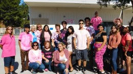 El Camino Real students and staff wearing pink.