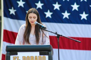 El Dorado High School's Veterans Day ceremony on November 9.