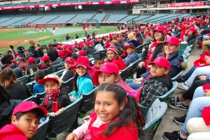 Melrose and Topaz students at Angel Game.