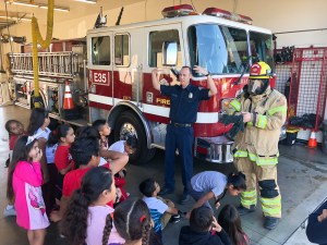 Ruby Drive visits the fire station.