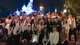 EDHS choral music at Disneyland.