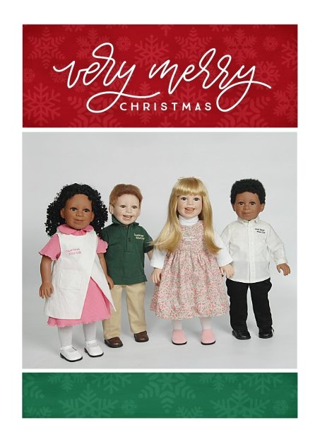GNBK—all 4 dolls—Girls original—Very Merry Christmas Frame