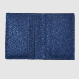 Blue salmon bifold fish leather card wallet