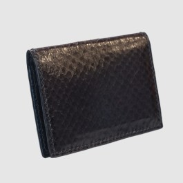 Black salmon bifold fishleather card wallet