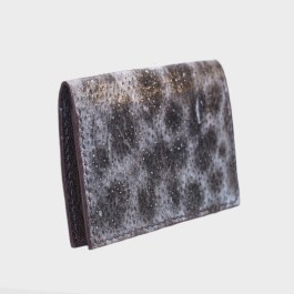 Natural Wolffish bifold fish leather card wallet