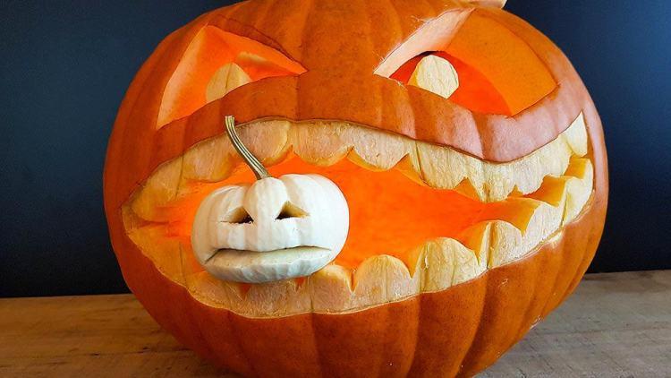 pumpkin carving how-to, an orange pumpkin on a table