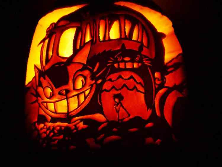 pumpkin carving how-to, carved pumpkin