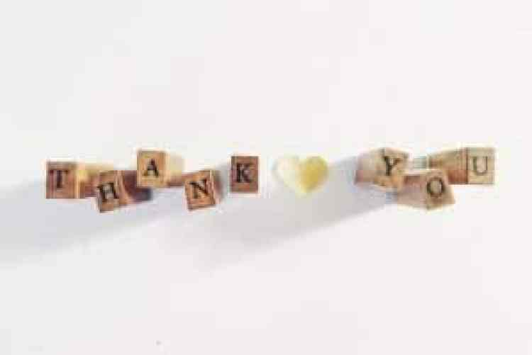 Thanksgiving Gratitude, Gratitude; blocks that spell thank you
