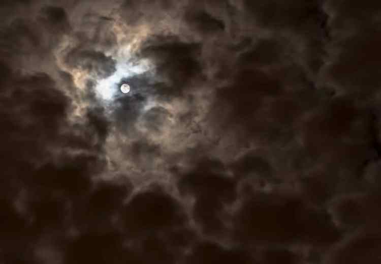 Great Halloween Books, dark sky with clouds and moon