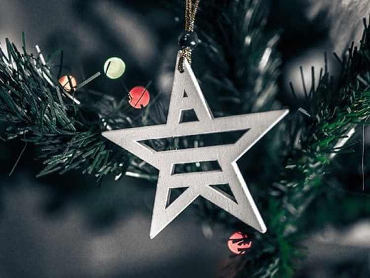 Christmas traditions, star on a Christmas tree