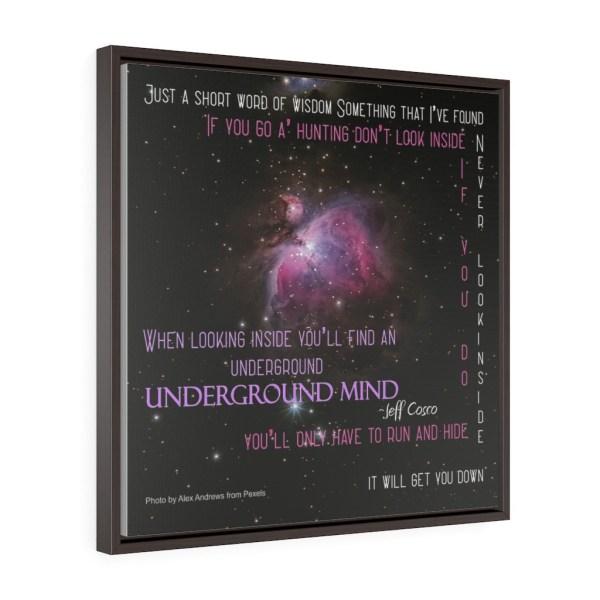 Underground Mind Square Framed