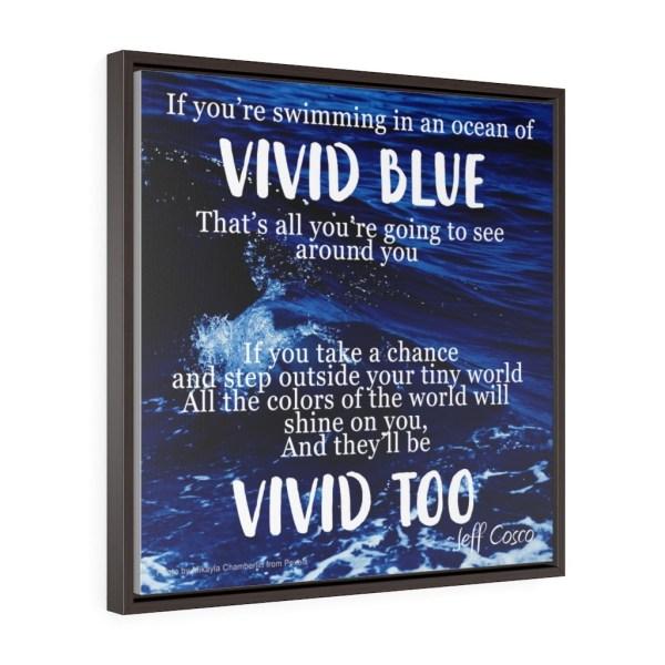 Vivid Blue Square Framed
