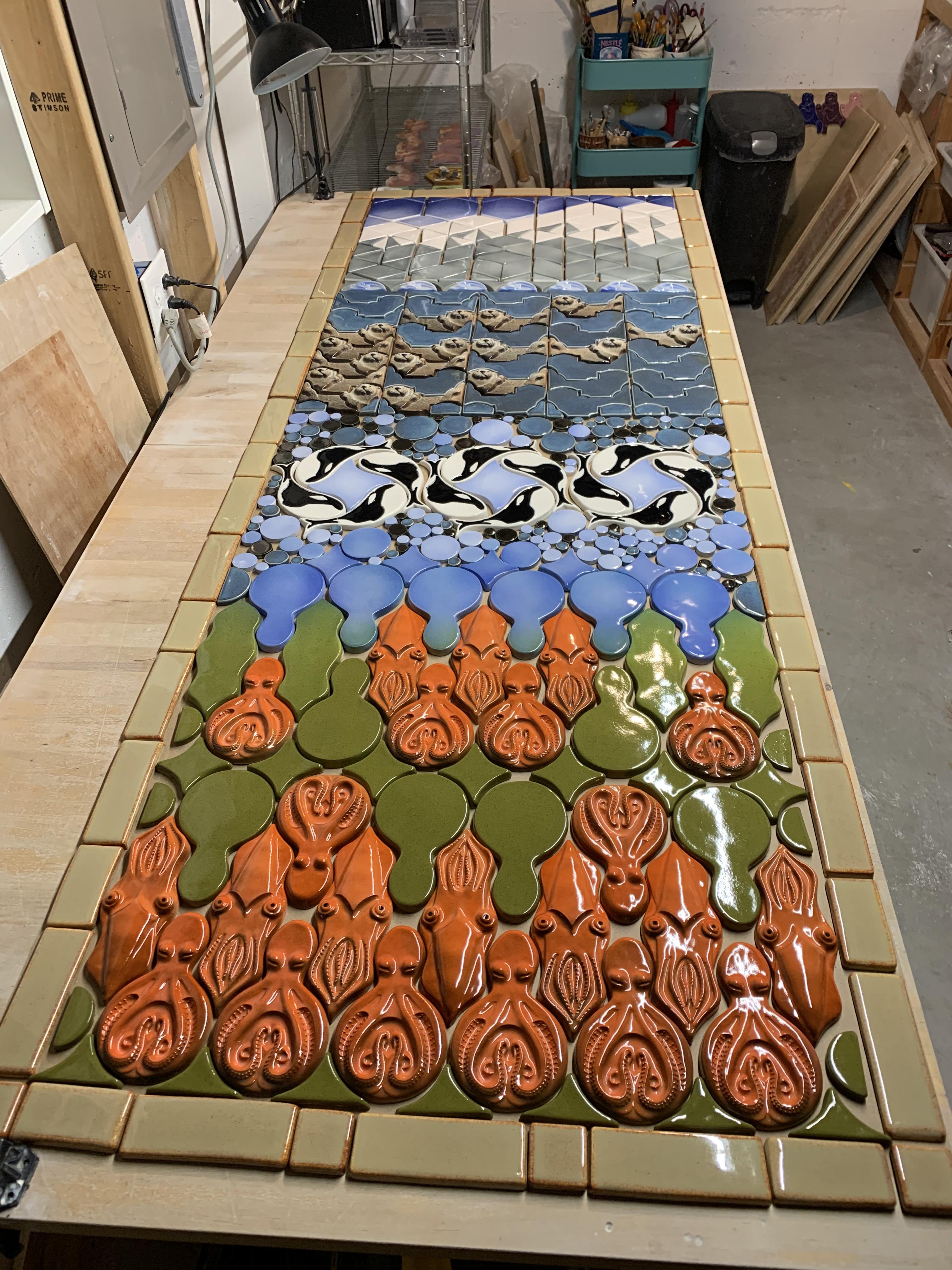 installing a ceramic tile mural 8