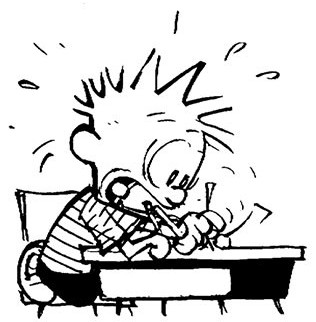 calvin-writing
