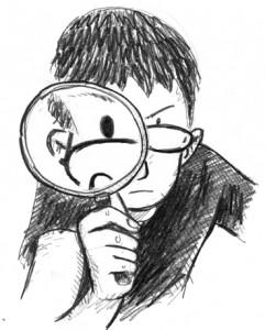 magnifying-kid