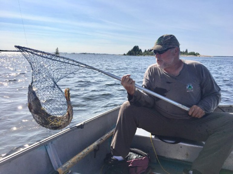 Mark fishing off Baruca