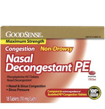 GoodSense® Phenylephrine HCl 10 mg Tablets - Goodsense