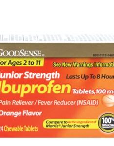 Goodsense junior strength ibuprofen tablets mg orange flavor image also rh