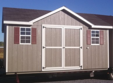 12 x 16 Painted Classic W Dormer (mo# 234)