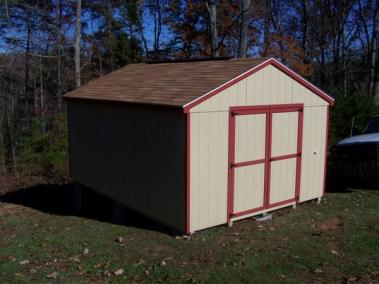 12 x 16 Painted A-roof Shingle SPEC 2