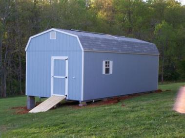 12x28 Painted High Barn Shingled SPEC