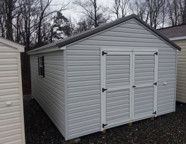12x16 Vinyl A-Roof Metal Shed