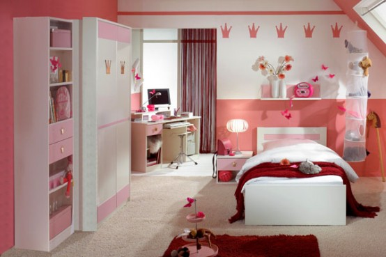 15 Cool Ideas For Pink Girls Bedrooms  Home Design Garden  Architecture Blog Magazine