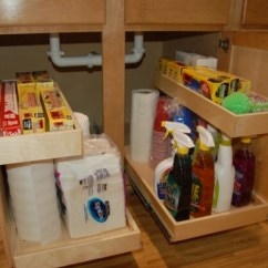 Kitchen Base Cabinet Pull Outs Vinyl Flooring For How To Build Sink Storage Trays | Home Design ...