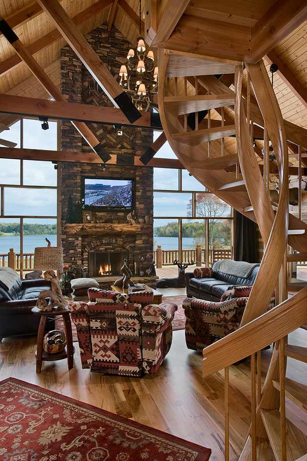 Charming Log Home Near A 155 Acre Lake Home Design