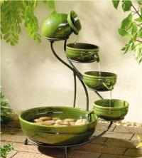 Ceramic Cascade Solar Fountain | Home Design, Garden ...