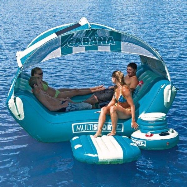 Cabana Islander Inflatable Six Person Lounge  Home Design