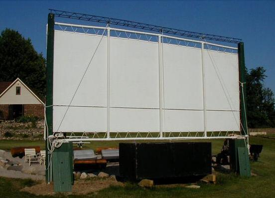 Backyard Movie Screen DIY Outdoor Home Design Garden Amp Architecture Blog Magazine