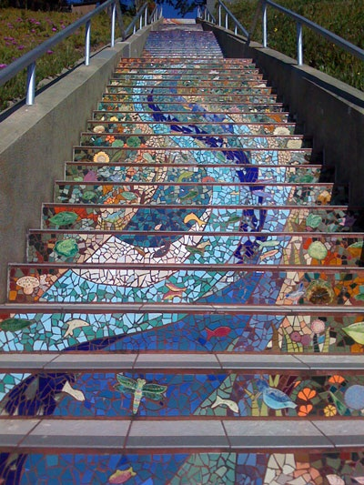 Gorgeous Mosaic Staircase Home Design Garden