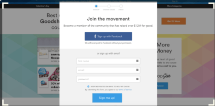 Have your supporters sign up for Goodshop