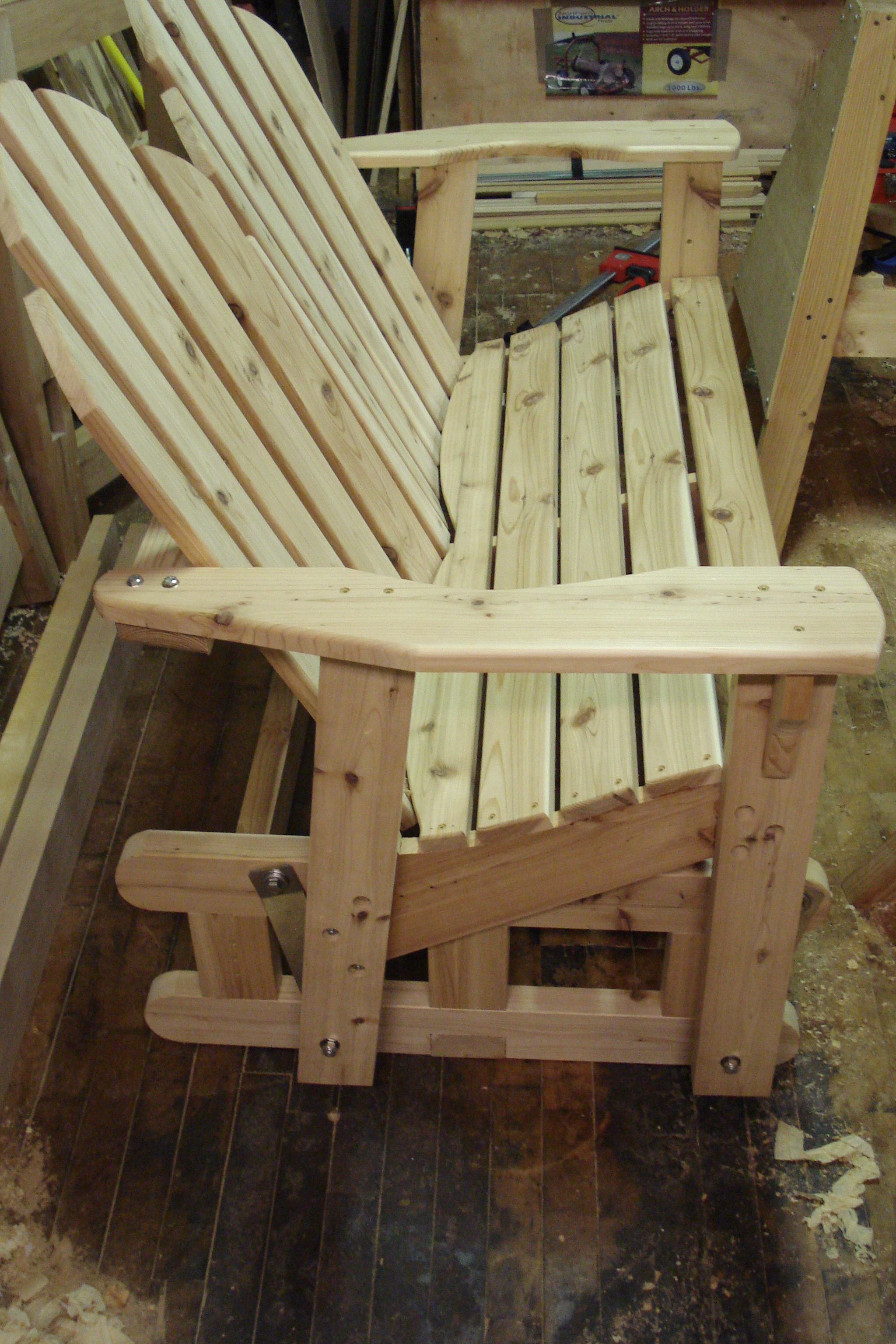 double rocking adirondack chair plans swivel gaming woodworking porch glider pdf