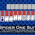 Spider type solitaire games