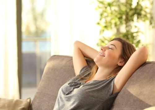 Relaxed teen