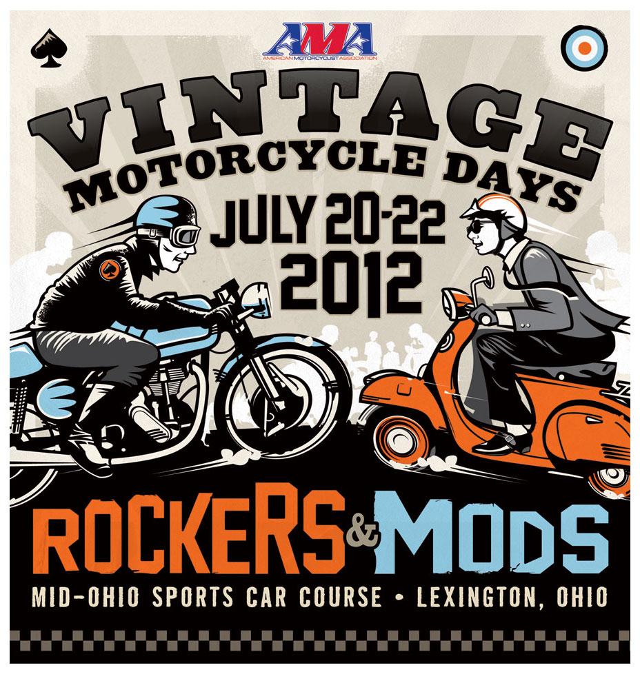 ama vintage motorcycle days 2012 event illustration