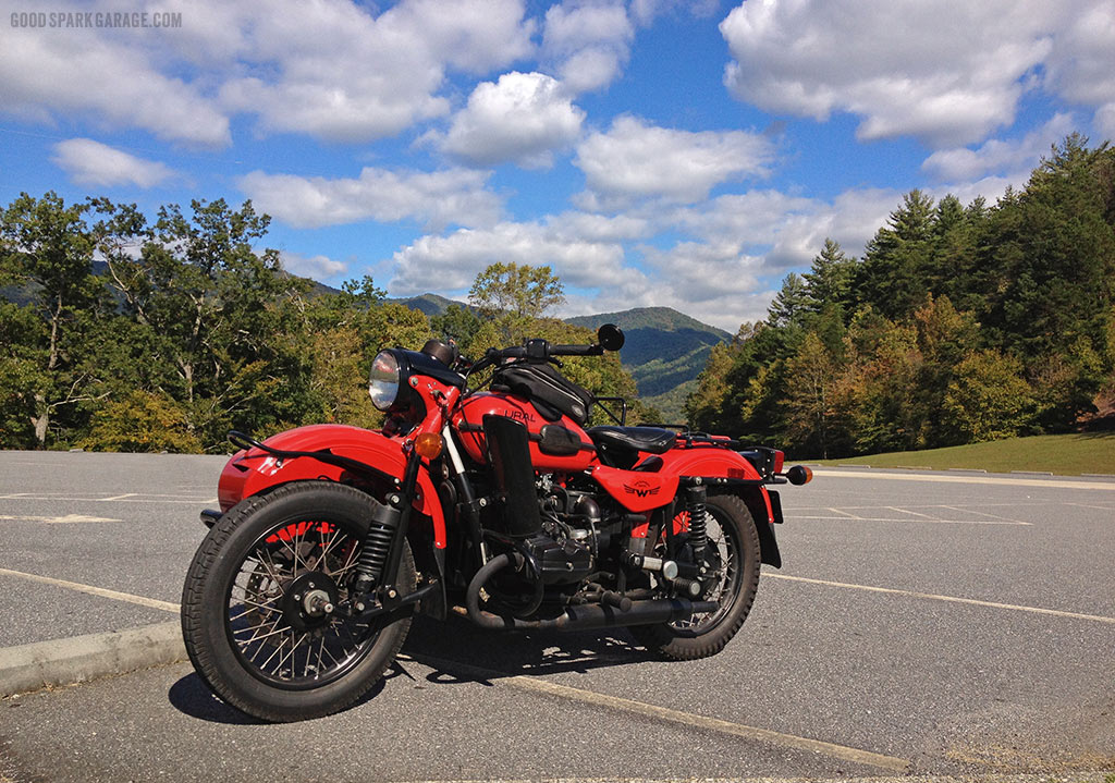 Ural Sidecar in the Smoky Mountains
