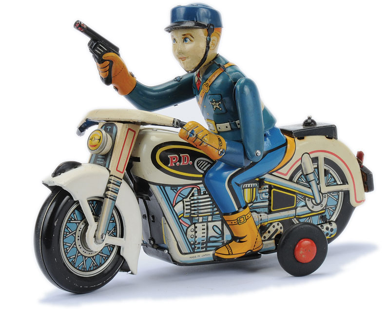 motorcycle tinplate toys toy friction drive 1955 germany fire huki touring goodsparkgarage