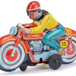 Tinplate Motorcycle Toy