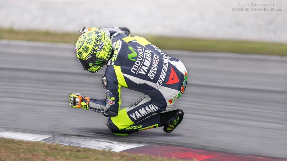 Valentino Rossi - Invisible Motorcycle - Fun with PhotoShop