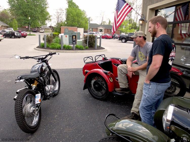 Handing the bike over to Steve